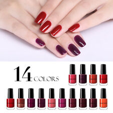 NICOLE DIARY 6ml Red Color Nail Polish Peel Off Long Lasting Nail Art Varnish