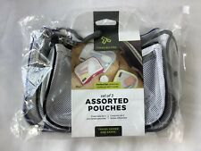 Travelon Set of 3 Assorted Piped Pouches Cool 43108-080