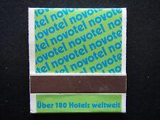 NOVOTEL UBER 180 HOTELS WELTWEIT MATCHBOOK