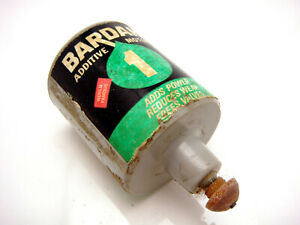 Vintage Mattel Wizzzer Spinning Top Toy Bardahl Motor Oil Additive Can Style