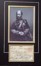 GEORGE BINGHAM - EARL LUCAN - CRIMEAN WAR - LIGHT BRIGADE   SIGNED PHOTO DISPLAY