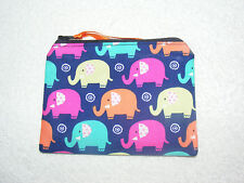Mini Elephants Fabric Handmade Coin Purse