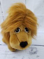 "Ron Banafato Lion Hand Puppet Plush Stuffed Animal Toy Tan White Red Black 11"""