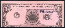 PANAMA KOBBE BEACH CLUB JULY 1992 COLUMBUS DATE PLAY NOTE ATLANTA MISCUT DOLLAR