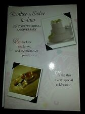 Brother and Sister in Law On Your Wedding Anniversary Card