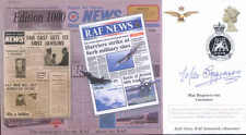CC72f RAF News cover signed comedian Max Bygraves OBE
