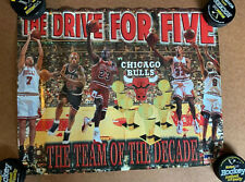 The Drive for Five 1997 Starline Chicago Bulls Poster - Michael Jordan