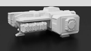 Light Freighter Terrain for Tabletop Miniatures Wargaming, 3D Printed in 28mm