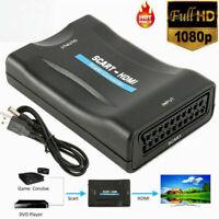 Scart zu auf HDMI Konverter Wandler Scaler Converter Adapter 1080P HD TV +USB CE