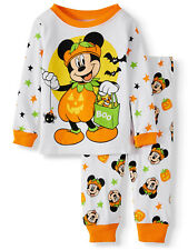 Halloween Mickey Mouse 2 pc Pajamas Boys 18 mos. Toddler Disney PJ Sleepwear