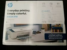 HP Deskjet 2732 Printer Wireless All in One INK INCLUDED Limited Edition Blue