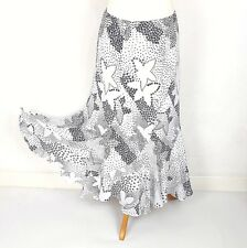 Romans ladies skirt 14 White Pattern Flare Lined Wedding Formal Autumn 40f