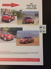 DECALS 1/43 CITROEN SAXO KIT CAR SEBASTIEN LOEB RALLYE ACROPOLE 2001 WRC RALLY