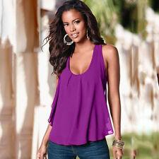 Womens Tank Tops Sleeveless Summer  Casual Beach Vest Tee Shirt T-shirts Blouse