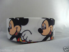 "7/8""  (22mm) Quality Printed Grosgrain Ribbon  #4306 Mickey"