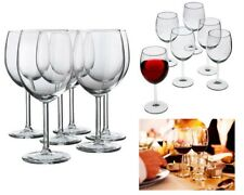 Set of 6 Crystal Wine Glasses Clear Elegant Goblets 10 oz Stem Finedine Drinking