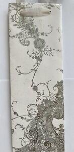 "Papayrus Wedding Bridal Shower Wine Holder Gift Bag 15"" Silver White Sparkly"