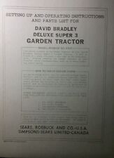 David Bradley Sears 91757597 Deluxe 3 Tractor Amp Plow Owner Amp Parts 2 Manuals