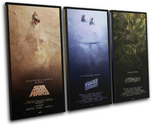 Star Wars Trilogy Posters Movie Greats TREBLE CANVAS WALL ART Picture Print
