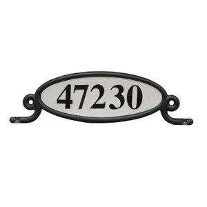 Mailbox Reflective Address Number Plaque Plate Sign Post Box Two Sided