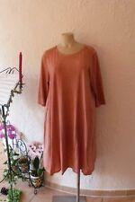SINNE Design Kleid 48 50 EG NEU terra Stretch A-Form viele Details LAGENLOOK