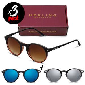 Tris occhiali da sole HERLING Pack PHANTOM [Premium] uomo/donna tondi fashion