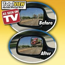 Total View SureView 360 Adjustabe Blind Spot Mirror set of 2 Adhesive Install
