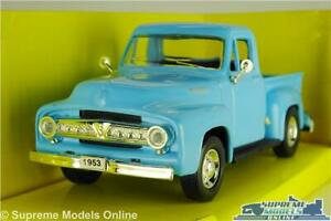 FORD F-100 MODEL PICK UP TRUCK 1953 BLUE AMERICAN USA 1:43 SIZE ROAD SIGNATURE K