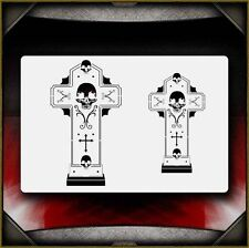 """Skull Cross 2"" Airbrush Stencil Template Airsick"