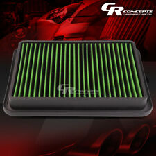 GREEN WASHABLE HIGH FLOW AIR FILTER PANEL FOR 89-00 TOYOTA 4RUNNER 95-04 TACOMA
