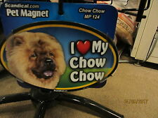 I Love My Chow Chow 6 inch oval magnet for car or anything metal New