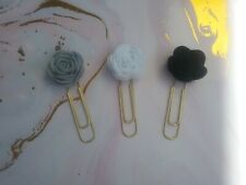 Planner Clip/Bookmark/ Place Marker Journal - Felt Flower Paperclip