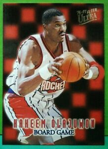 Hakeem Olajuwon insert card Board Game 1996-97 Fleer Ultra #13