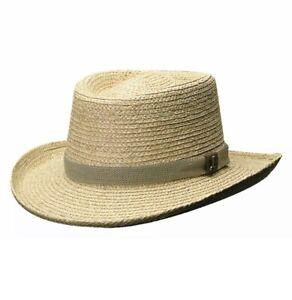 Scala Pro Mens Gambler HAT S/M PANAMA STYLE TOYO STRAW SUN SHADY GOLF Small Med