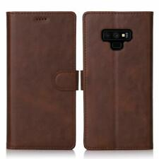 Samsung Galaxy Note 9 Case Soft PU Leather Wallet Flip Clear TPU Phone Cover