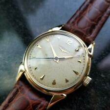 LONGINES Men's 14k Solid Gold Cal.23 Hand-Wind Dress Watch, c.1960s Swiss LV818
