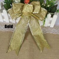 New 5Pcs Bows Bowknot Christmas Tree Party Gift Present Xmas Decoration Ornament