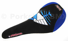 "Fishbone ""Little Bone"" BMX bicycle railed seat (Kevlar reinforced) BLUE / BLACK"