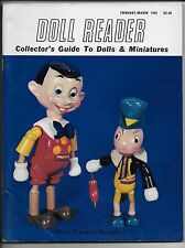 February/March 1981 Doll Reader Magazine-Collector's Guide Dolls & Miniatures!