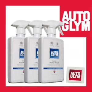 Autoglym Rapid Aqua Wax 500ml spray bottles x 3