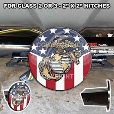 Tow Hitch Receiver Insert Cover Plug Truck & SUV - USMC MARINE CORP EGA USA FLAG