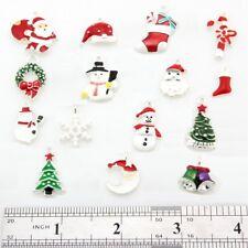 30pcs/ Lot Xmas Christmas Mix Enamel Pendant Charms Jewelry Finding DIY DY63