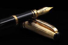 Silver Fountain Pen Gold Swan Broad Nib Handmade Waterman Cartridges