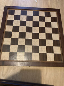 Wooden Box Chess Board as seen . Each square is 1.5 inch.