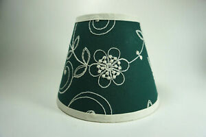 Waverly Candlewicking Candlewick Classic Green Fabric Lampshade Lamp Shade