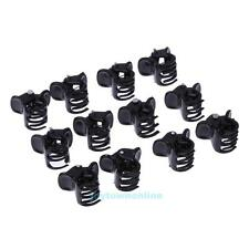 100pcs/Bag Small Plastic Black Hair Clips Clipper Clamp For Women Ladies 6 Claws