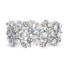 Aurora Borealis AB Crystal Rhinestone Bridal Stretch Bracelet (Sparkle-2708)