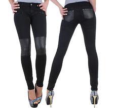 Damen Jeans Hose Stretch Röhrenjeans Skinny Röhre Slim Hüfthose Hüftjeans ★ 8y