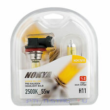 Nokya H11 Hyper Yellow Stage 1 Headlight Halogen Light Bulb - Chevy Fog Light
