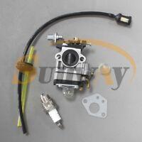 15mm Carburateur + Bougie pour Tondeuse Débroussailleuse Tronçonneuse 43cc 49cc